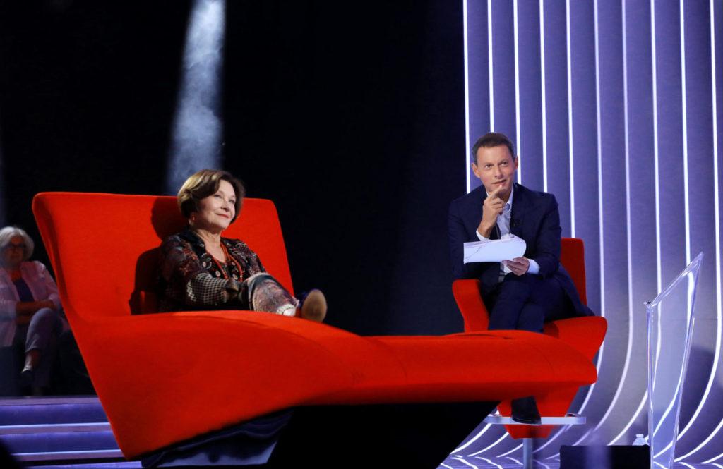 """Exclusif - No Web - Enregistrement de l'émission """"Le Divan"""" avec Macha Méril en invitée et présentée par Marc-Olivier Fogiel"""